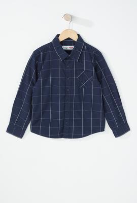 boys fashion checkered button up